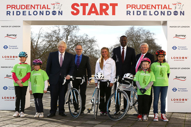 Boris Johnson at Prudential Ride London